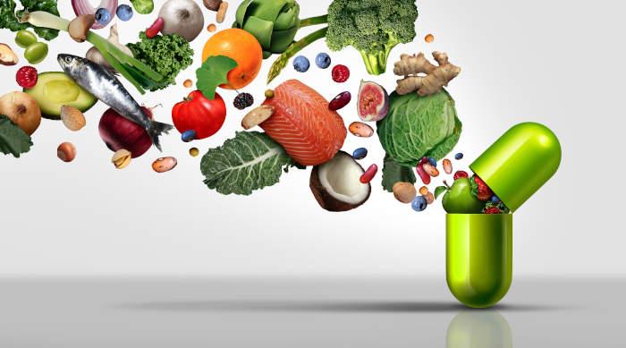 Alimenti ricchi di nutrienti in capsula